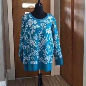 Croft & barrow crew neck cozy lurex sweater!